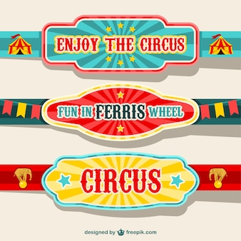 Circus banners ontwerp