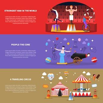 Circus banners set