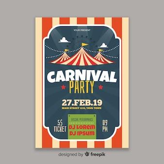 Circus carnaval partij poster
