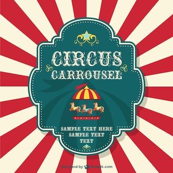 Circus carrousel gratis poster