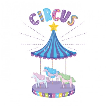 Circus carrousel scène pictogram