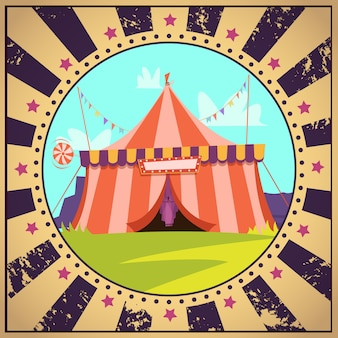 Circus cartoon poster