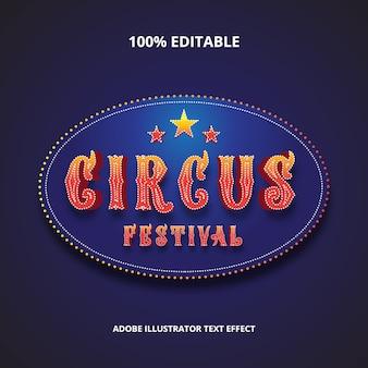 Circus festival teksteffect premium