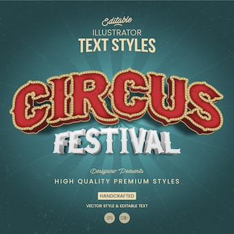 Circus festival tekststijl