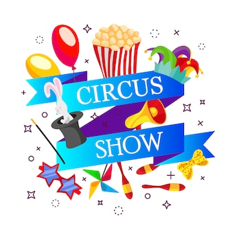 Circus illustratie sjabloon