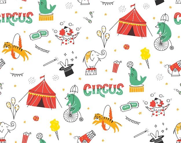 Circus naadloze achtergrond