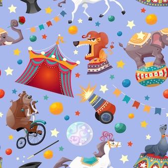 Circus naadloze patroon