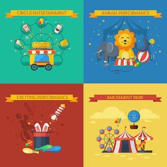 Circus platte set