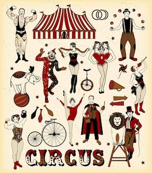 Circus tekens instellen