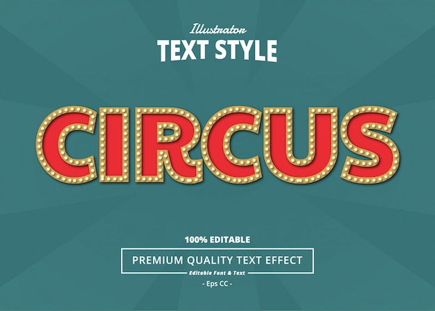 Circus teksteffect