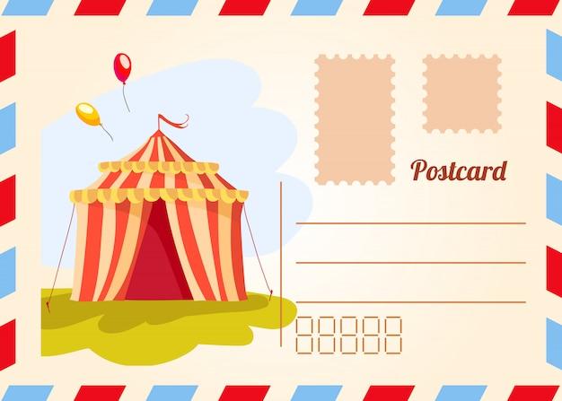 Circus-ticket. carnaval-affiche. circusshow. verschillende circusartiesten.
