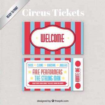 Circus tickets pak retro-stijl