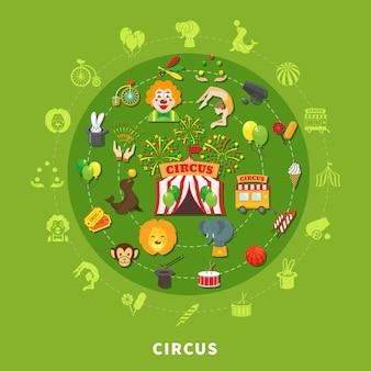 Circus vectorillustratie