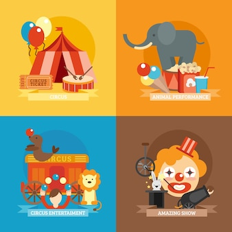 Circus vlakke set