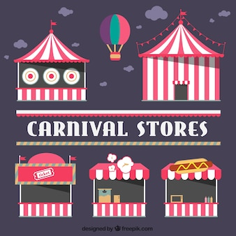 Circus winkels pakken