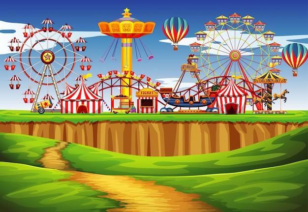 Circusscène met veel ritten overdag