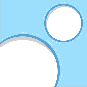 Ciricle blauwe kadersjabloon