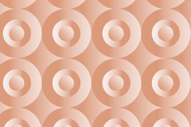Cirkel 3d geometrische patroon vector oranje achtergrond in abstracte stijl