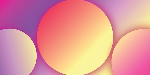 Cirkel abstract ontwerp met abstracte achtergrond