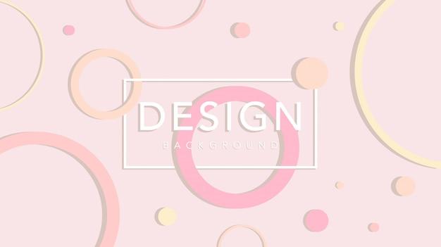 Cirkel abstracte achtergrond met pastel kleur sjabloon
