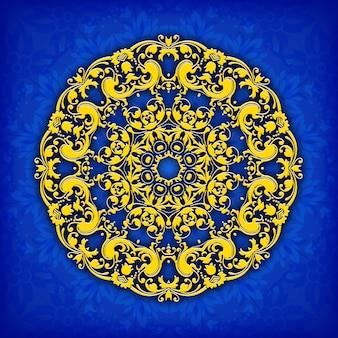 Cirkel bloemen siergrens. kantpatroon ontwerp.