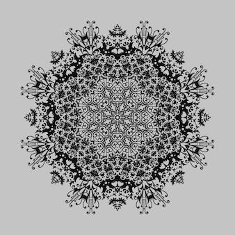 Cirkel bloemen siergrens