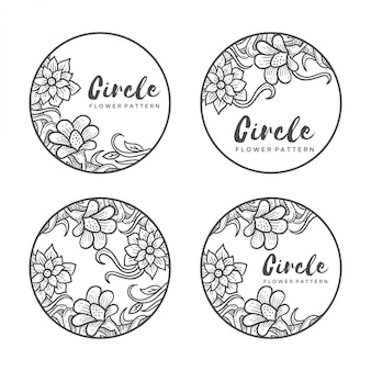 Cirkel bloempatroon