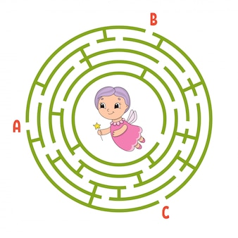 Cirkel doolhof. spel voor kinderen.