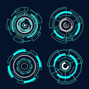 Cirkel futuristische interfacetechnologie hud vectorontwerp.