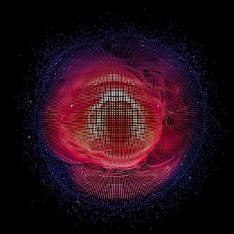 Cirkel gemaakt van golvende lijnen