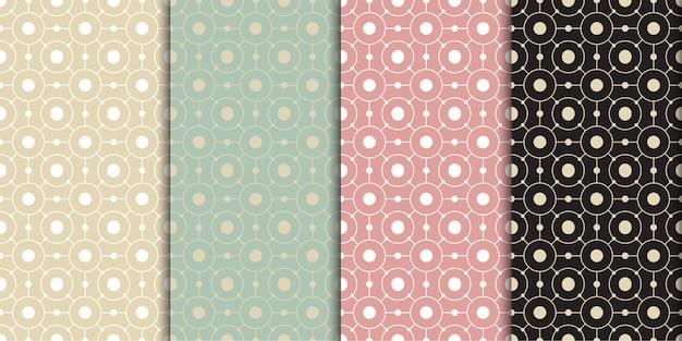 Cirkel geometrische retro concept naadloze patroon vector sjabloon