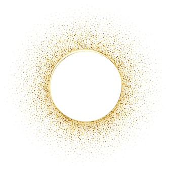 Cirkel gouden halftone frame achtergrond
