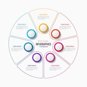 Cirkel grafiek infographic sjabloon voor presentaties, adve
