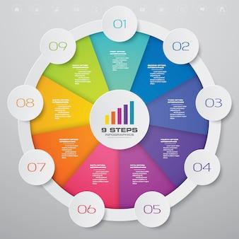 Cirkel grafiek infographics element