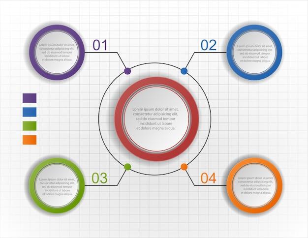 Cirkel infographic grafiek, diagram, schema