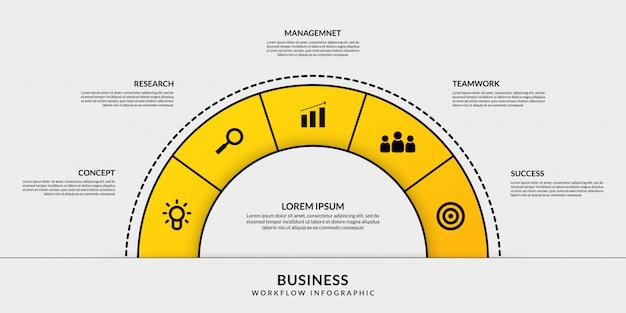 Cirkel infographic met opties