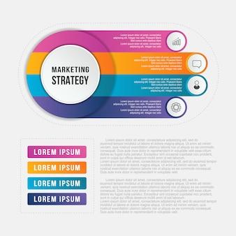 Cirkel infographic sjabloon