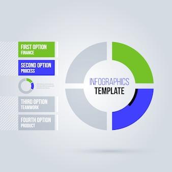 Cirkel infographics sjabloon