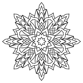 Cirkel kant ornament, ronde sier geometrische zwart-wit mandala