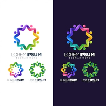 Cirkel kleurrijk logo