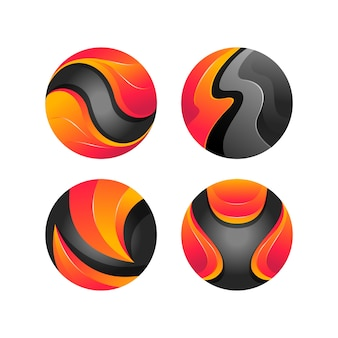 Cirkel kleurrijke logo sjabloon