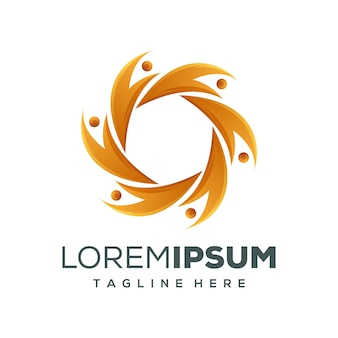 Cirkel mensen logo ontwerp