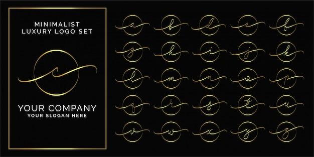 Cirkel minimalistisch elegant eerste premium logo Premium Vector