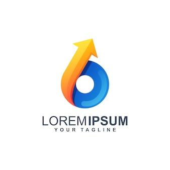 Cirkel pijl logo ontwerp