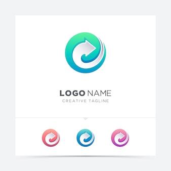 Cirkel pijl logo variatie
