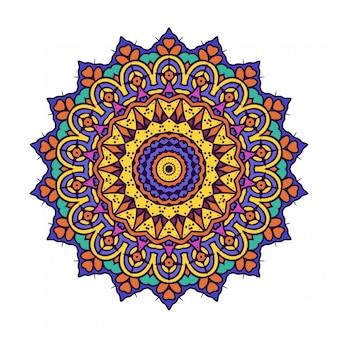 Cirkel rond ornament met mandala stijl