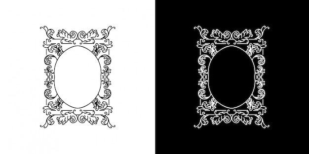 Cirkel victoriaanse frame monoline