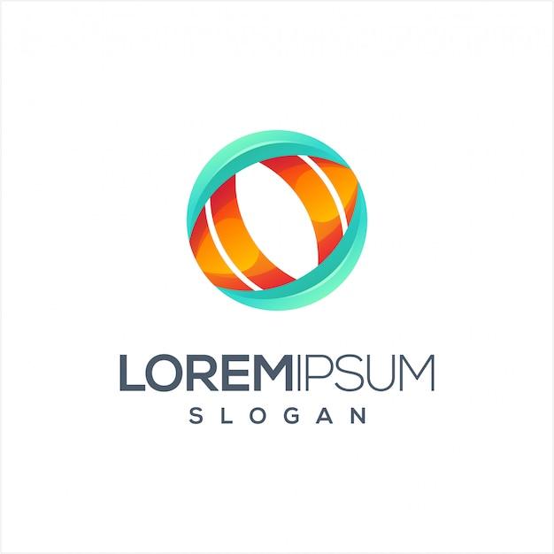 Cirkel visie logo ontwerp