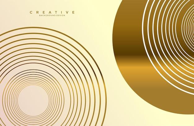 Cirkel vorm luxe abstracte gouden achtergrond