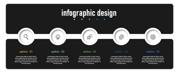 Cirkeldiagram infographic sjabloonontwerp